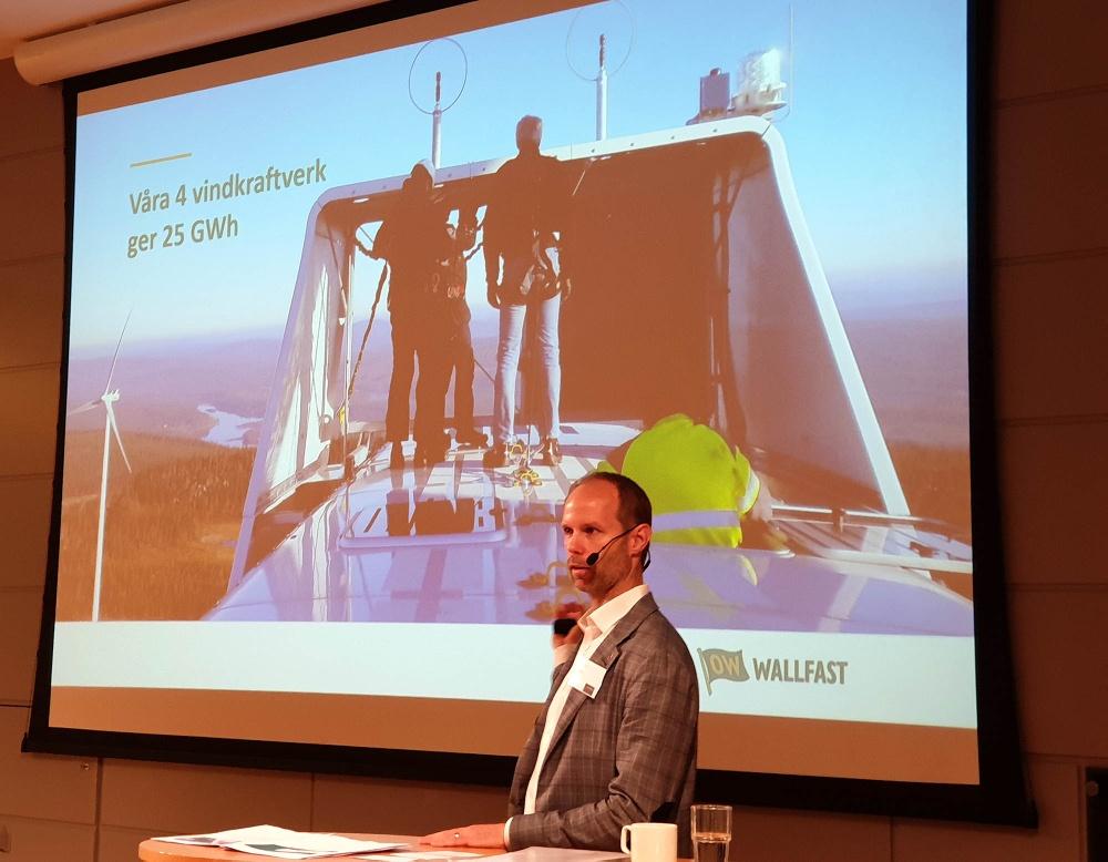 Wallfast Carl Talling berättar om energieffektiva lösningar på Fastighetsbranschens Energidag 1 oktober 2019.