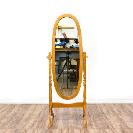 American Traditional Oval Dressing Floor Mirror