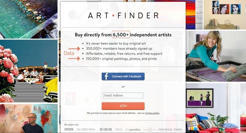 Art finder social proof