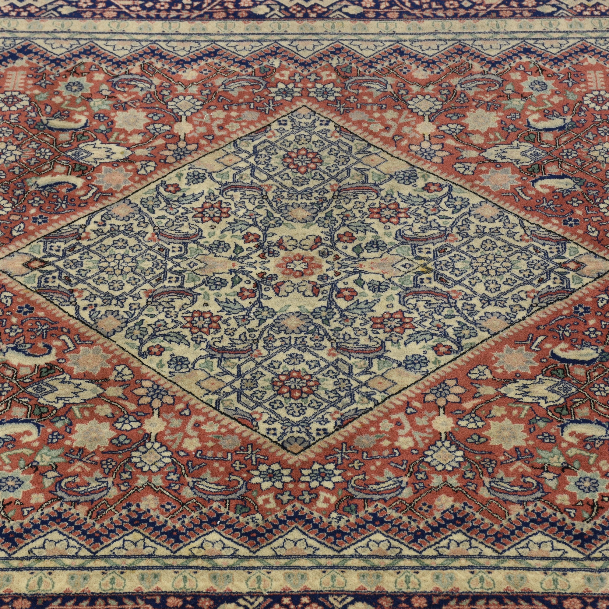 Persian Floral Diamond Area Rug