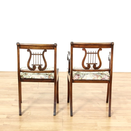 Duncan Phyfe Dining Room Set: Set Of 6 Duncan Phyfe Lyre Back Dining Chairs
