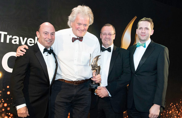 Tim Martin at the British Travel and Hospitality Hall of Fame