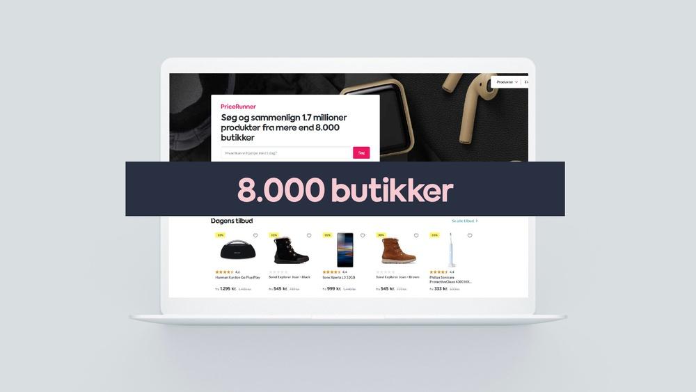 8000 butikker på PriceRunner