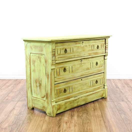Light Green Shabby Chic Eastlake Dresser