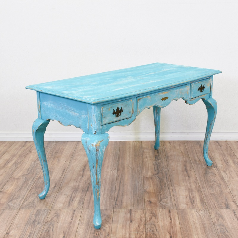 Blue Shabby Chic Console Table Desk
