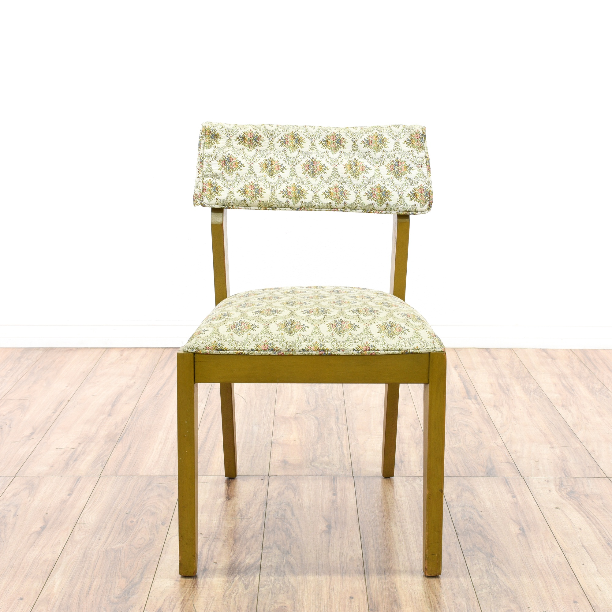 Mid century modern floral dining chair loveseat vintage for Mid century modern la