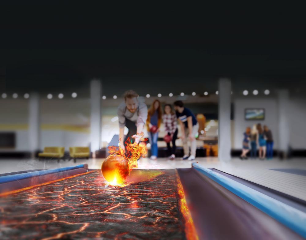 Interactive bowling invigs i Mora Parken