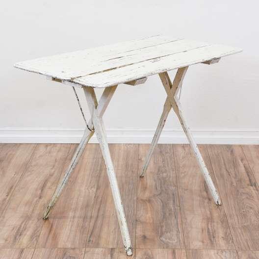 White Shabby Chic Folding Table