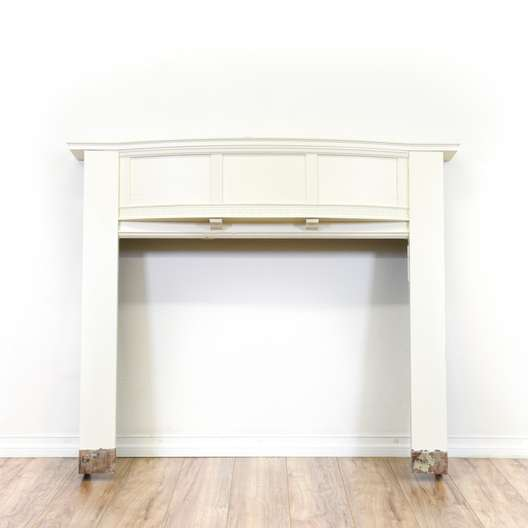Carved White Fireplace Mantle Surround
