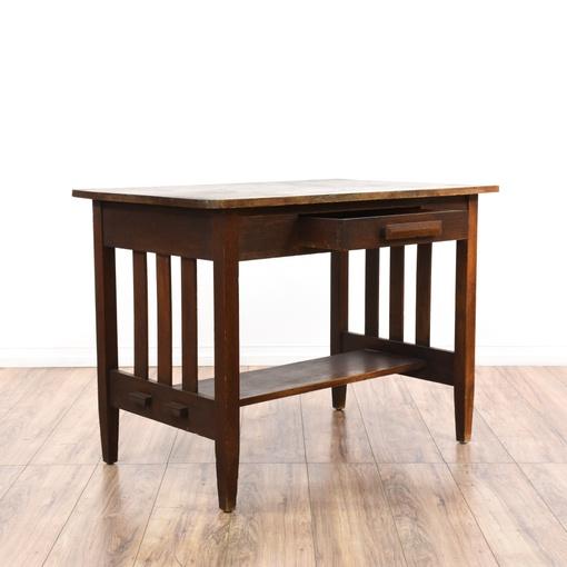 Antique Mission Arts & Craft Style Desk