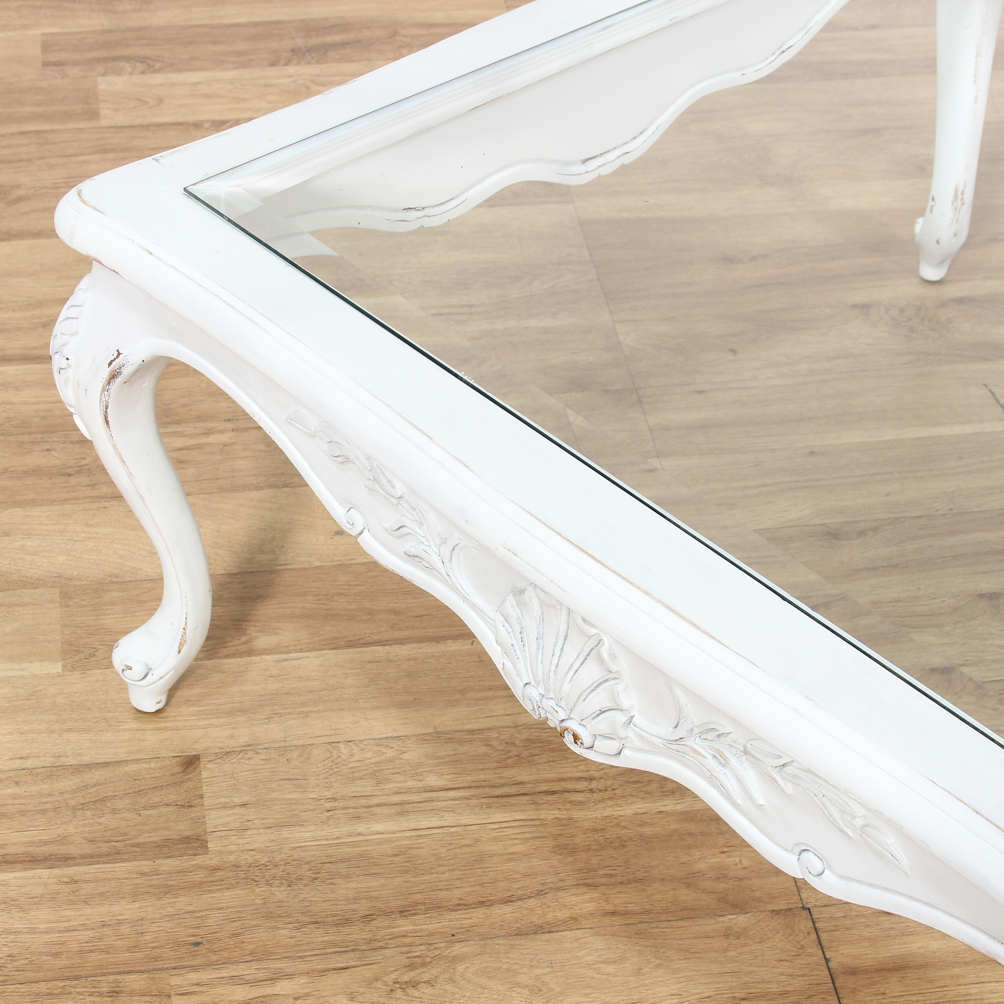 Shabby Chic White Square Coffee Table