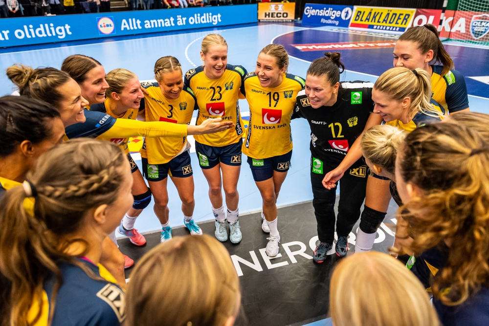 Svenska damlandslaget i handboll.