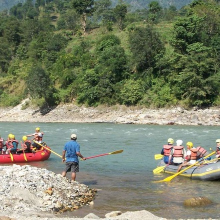Rafting on the Trisuli River