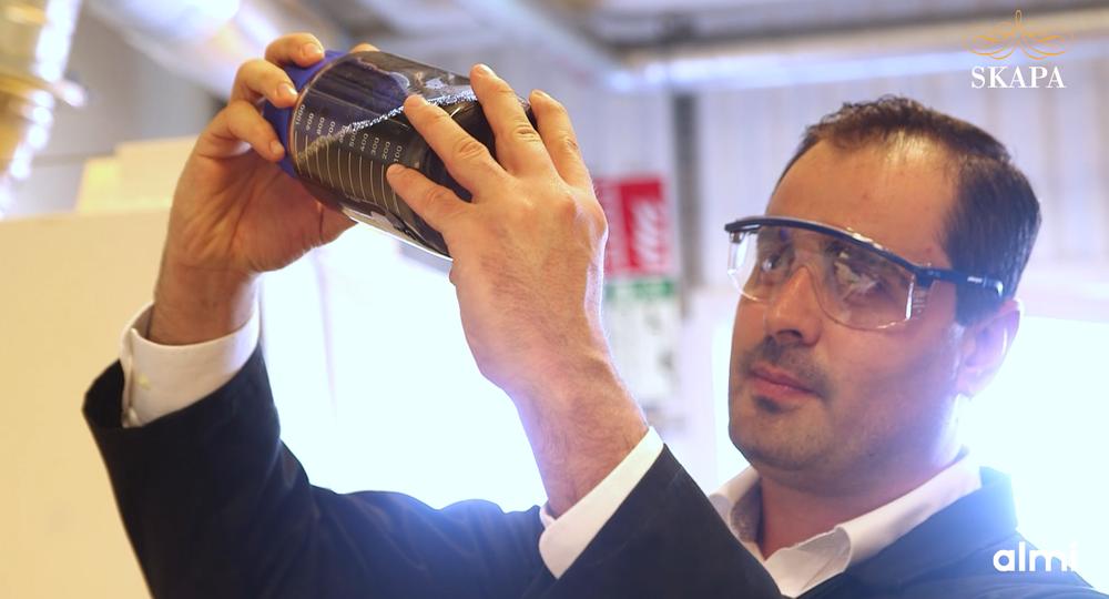Mamoun Taher grundare av företaget Graphmatech, för innovationen 'Aros Graphene'. SKAPA-prisvinnare 2020. Foto: Richard Örhn