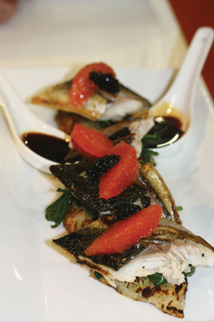 Pan roasted fillets of mackerel