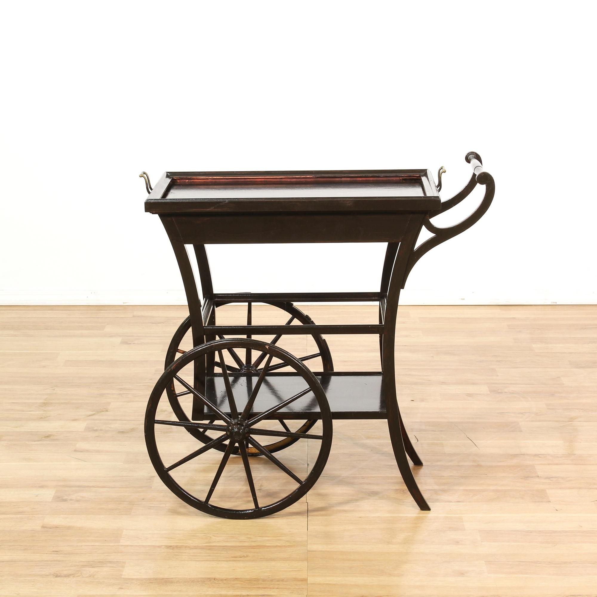 mid century serving bar cart loveseat vintage furniture. Black Bedroom Furniture Sets. Home Design Ideas