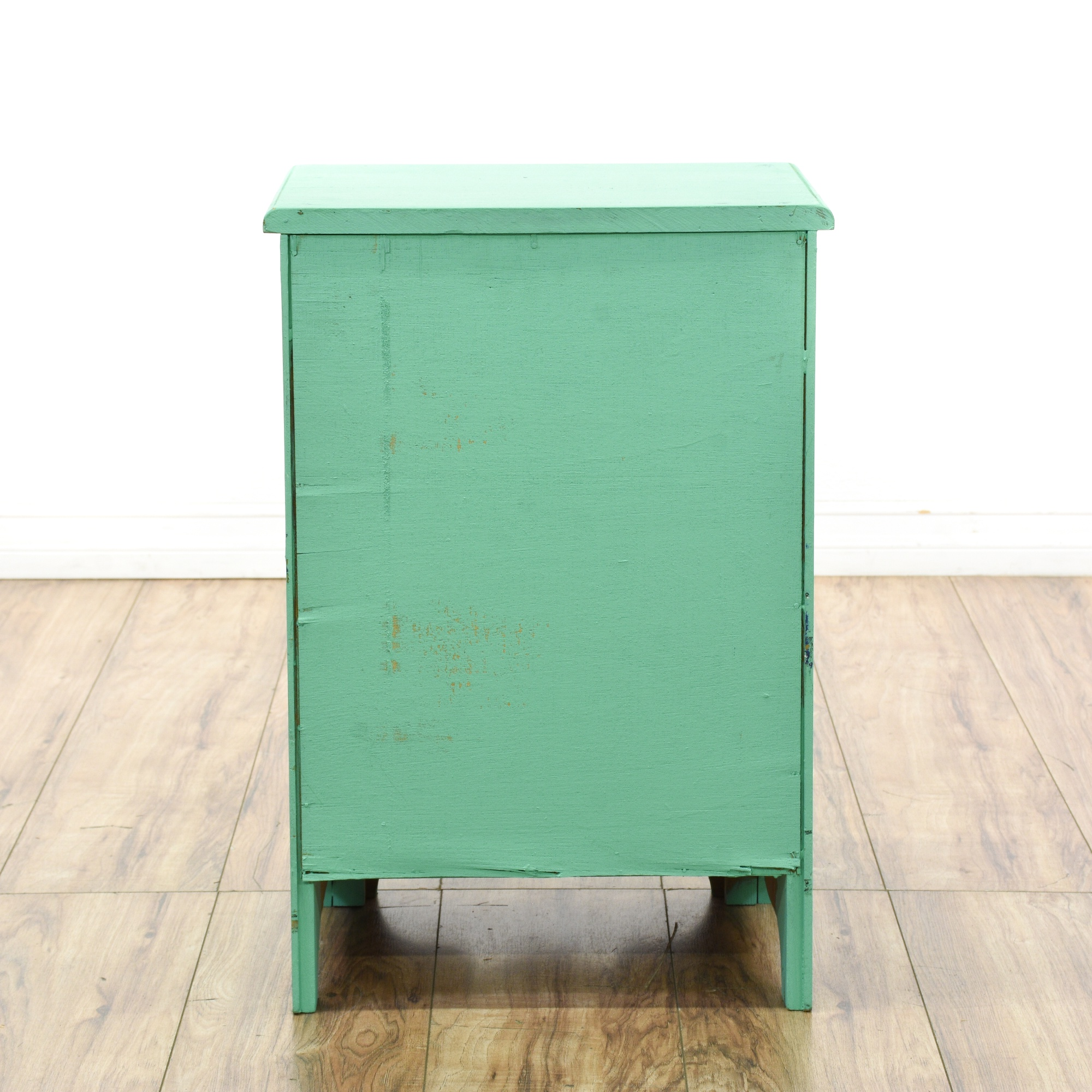 teal green shabby chic nightstand cabinet loveseat vintage furniture san diego los angeles. Black Bedroom Furniture Sets. Home Design Ideas