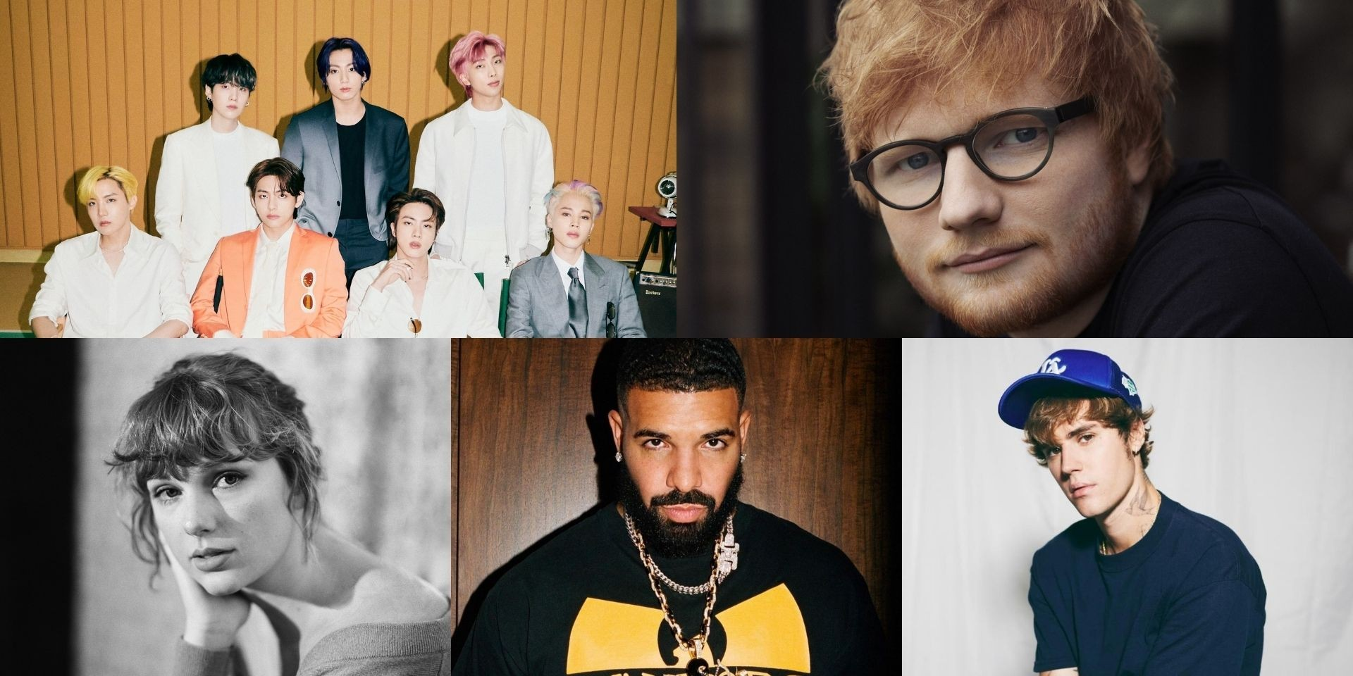 Here are the top 10 Spotify debuts of all time —  BTS, Ed Sheeran, Justin Bieber, Taylor Swift, Drake, and more