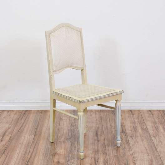 White Shabby Chic Desk Chair