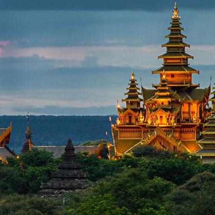 Nightime Pagodas