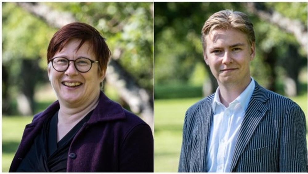 Margareta Fransson och Axel Hallberg.