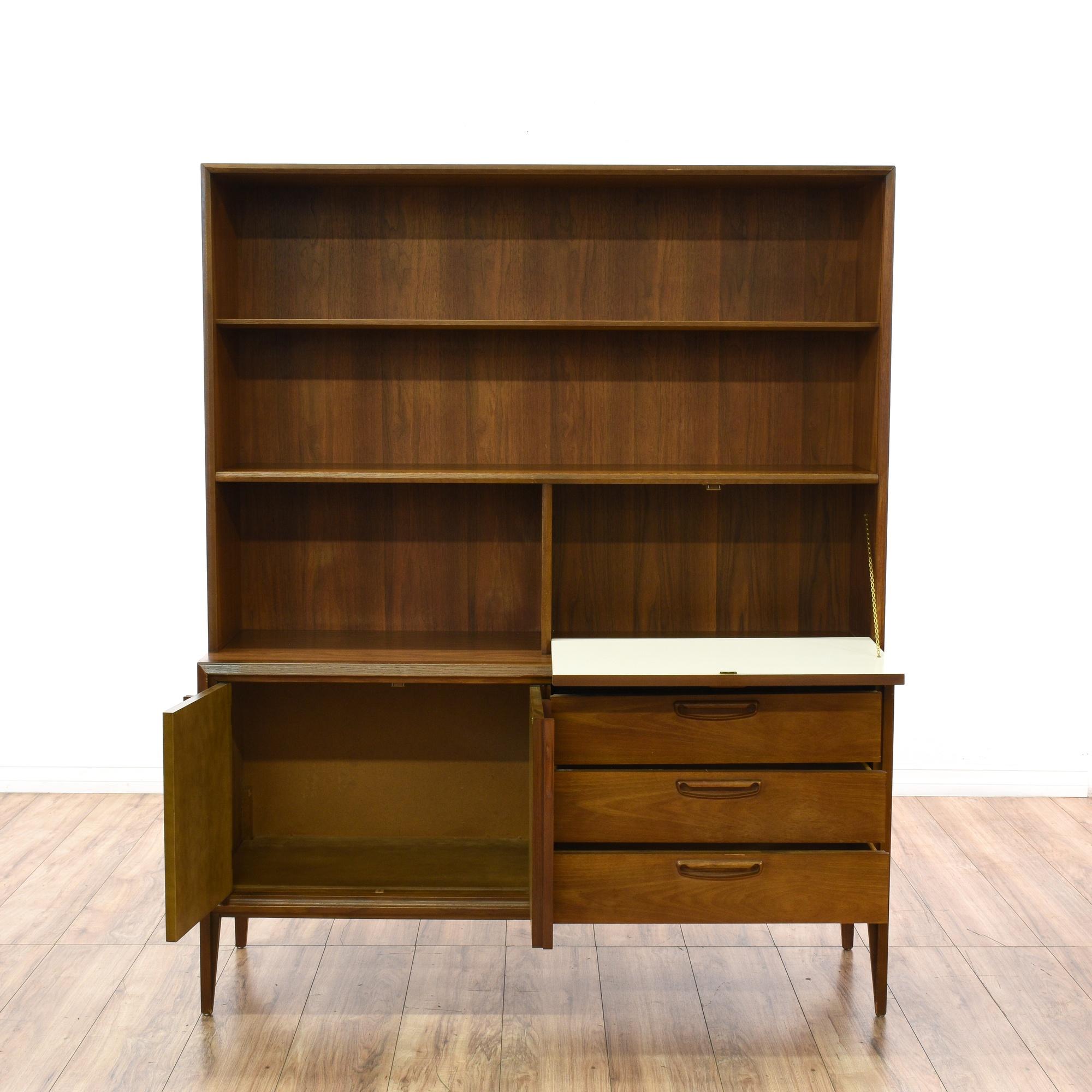 keller mid century modern wall storage unit loveseat vintage furniture san diego los angeles. Black Bedroom Furniture Sets. Home Design Ideas