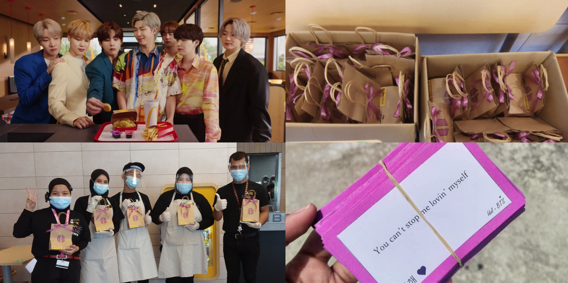 The BTS Meal is out now in Malaysia, ARMY send snacks to thank McDonald's crew