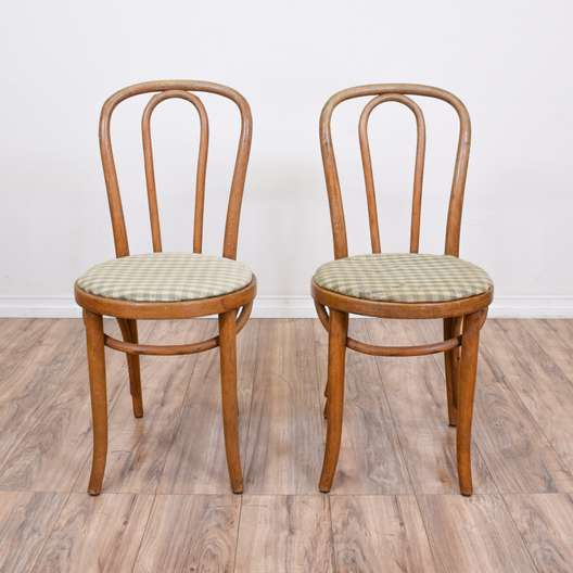 Pair of Bentwood Thonet Inspired Bistro Chairs