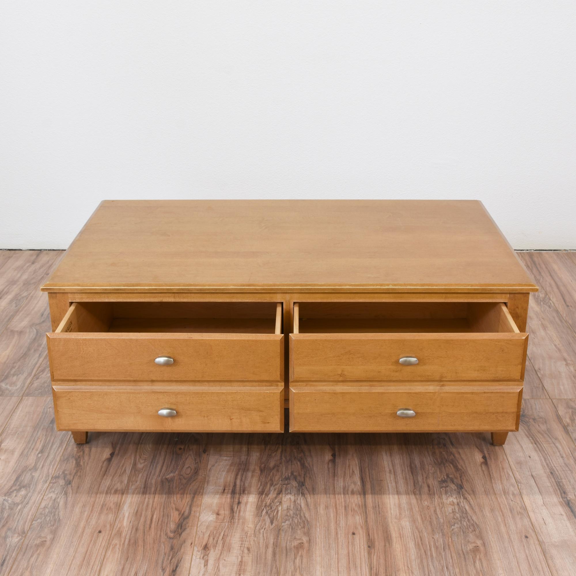 "Ethan Allen Hawthorne Coffee Table: ""Ethan Allen"" Mid Century Modern Coffee Table"