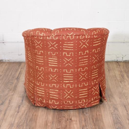 Red Swivel Armchair w/ Ottoman | Loveseat Vintage ...