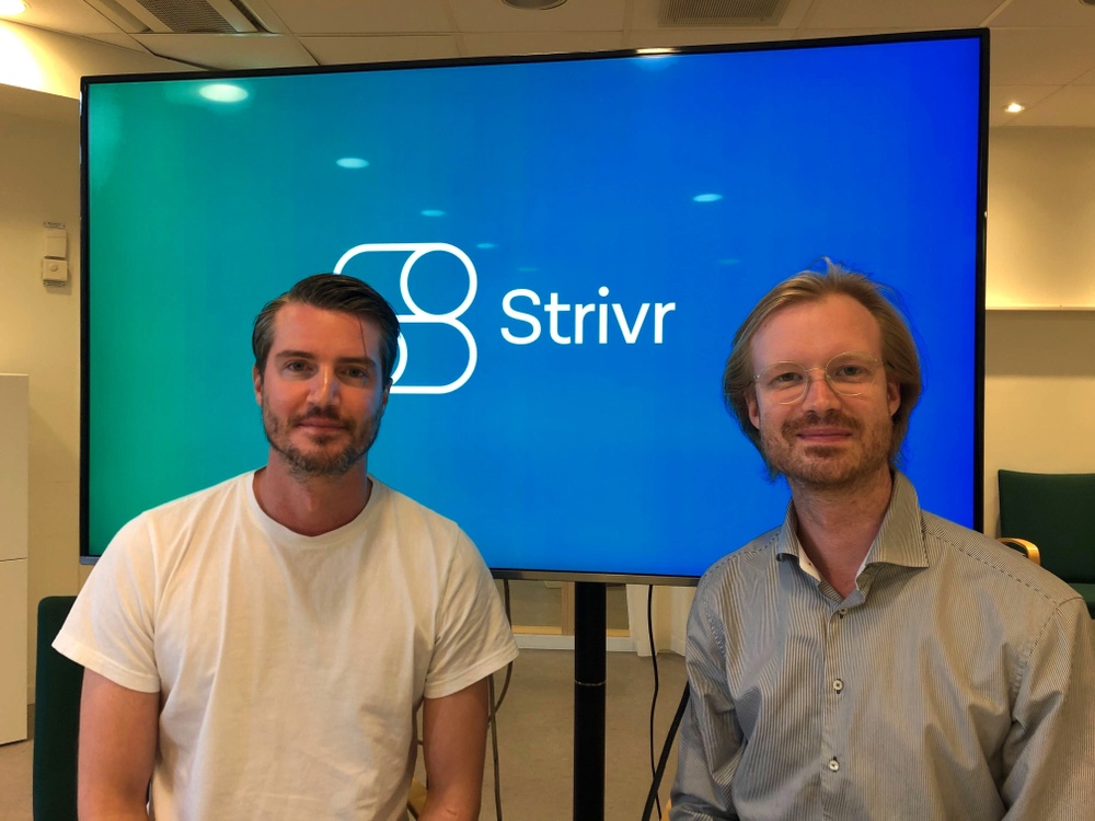 Strivrs grundare Carl-Fredrik Svensson och Fabian Lindegren