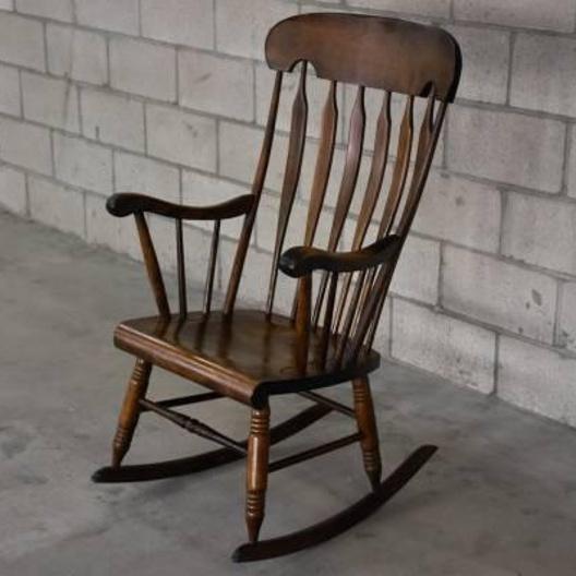 Solid wood rocking chair loveseat vintage furniture san