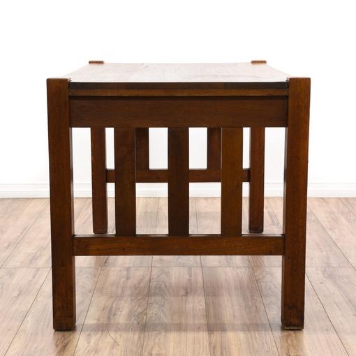 Antique Quarter Sawn Oak Mission Style Desk