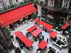 The market at the Paris Plaza Athénée