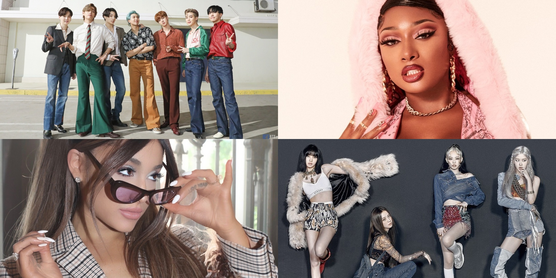 BTS, BLACKPINK, Megan Thee Stallion, Ariana Grande, and more nominated for the 2020 E! People's Choice Awards