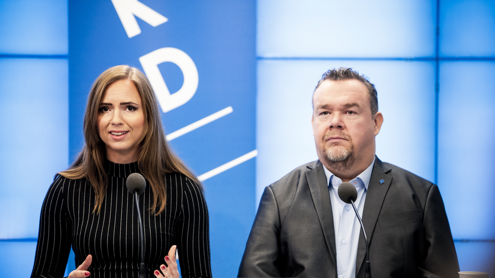 Sara Skyttedal och David Lega, europaparlamentariker