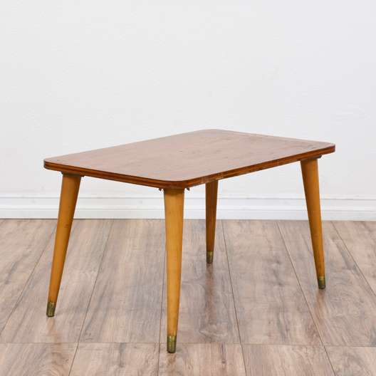 Small Mid Century Modern End Tables: Pair Of Wooden Mission Style End Tables By Bassett