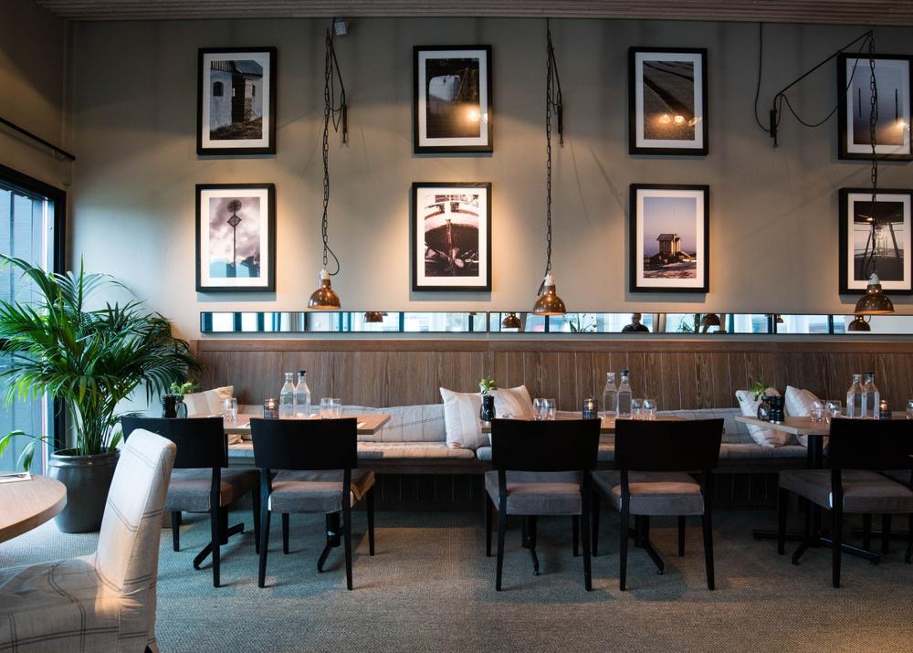 Restaurant area. The Bistro at Torekov Hotell.