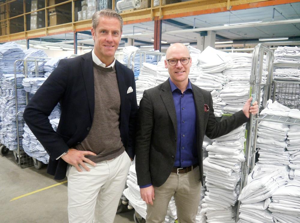 Fredrik Lagerkvist, VD samt Jonas Olaison, Hållbarhetschef, Textilia.