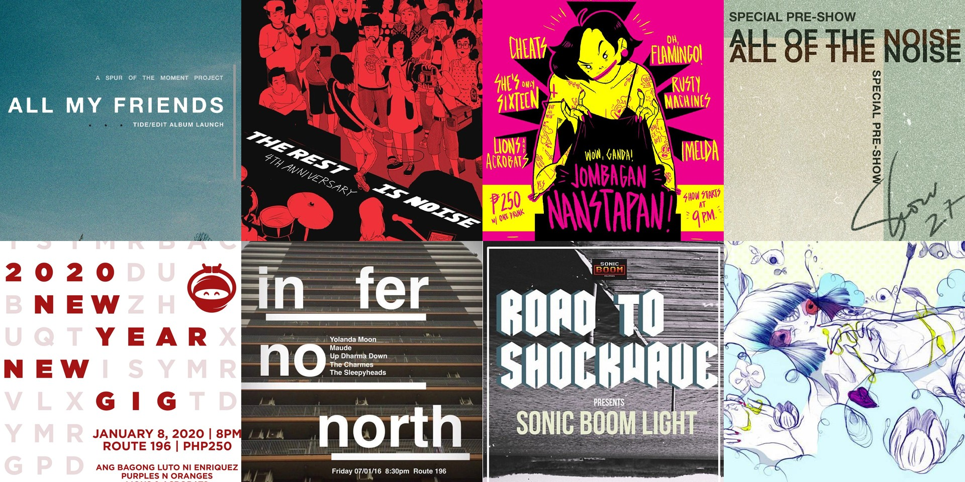 Looking at the history of Route 196 through gig posters