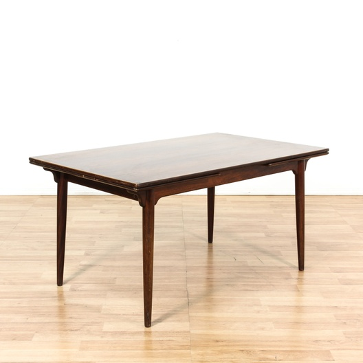 Super Danish Modern Teak Dining Table W Extenders Loveseat Uwap Interior Chair Design Uwaporg