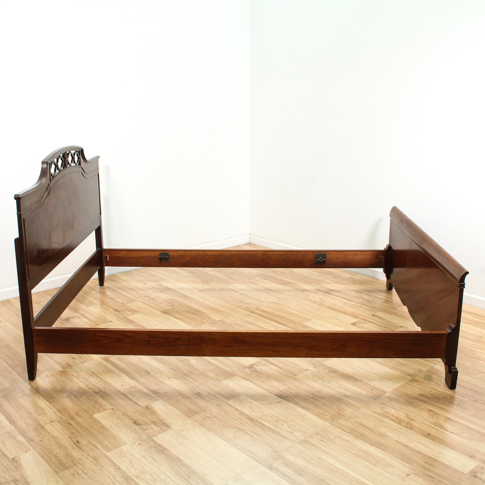 Flame Mahogany Full Sized Bed Frame Loveseat Vintage Furniture San Diego Los Angeles