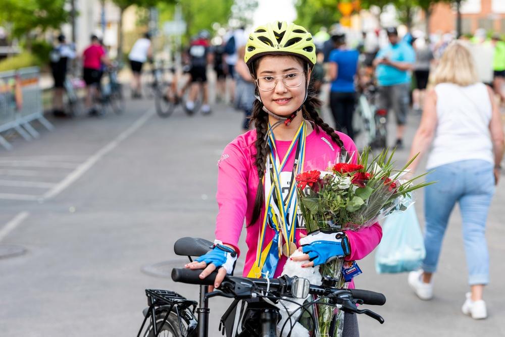 Integrationsprojekt Cykla Tillsammans.  Foto: Petter Blomberg