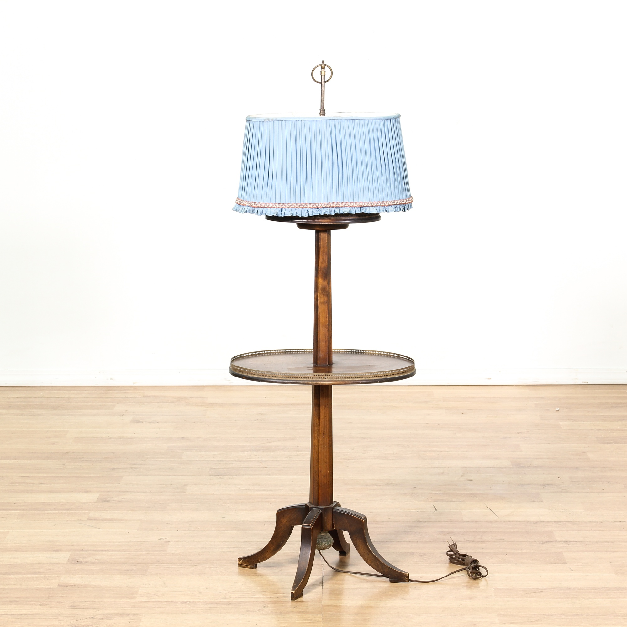 Bamboo Oval Table Lamp: Oval Mahogany Floor Lamp Side Table
