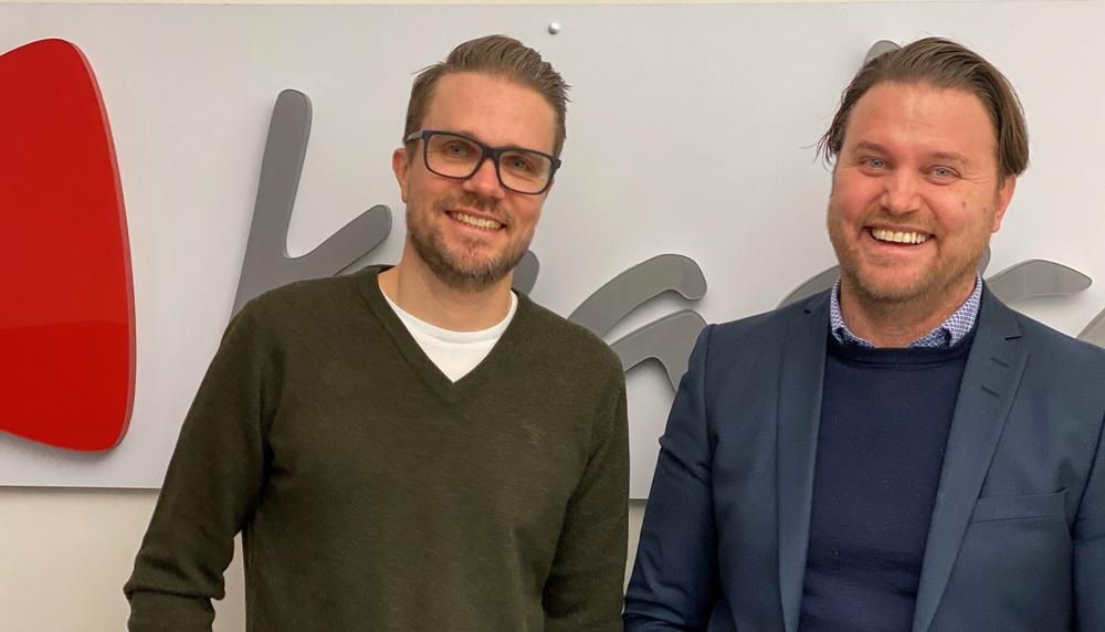Anders Dahlberg, affärsområdesansvarig Kvadrat Borlänge och Johan Nordkvist, VD Kvadrat Örebro och Borlänge.