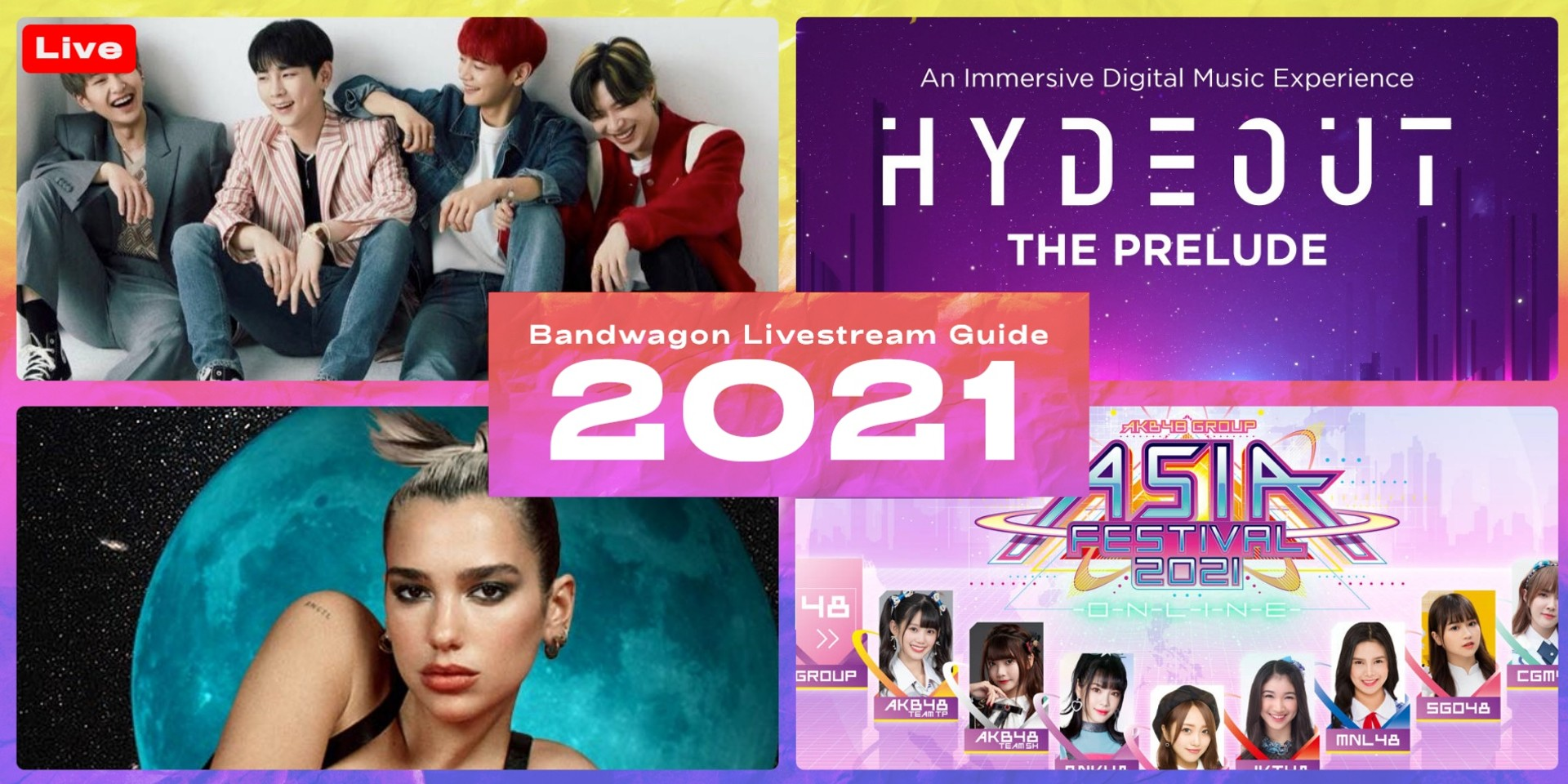 Online concerts and festivals to stream in 2021 - Hydeout, SHINee, Dua Lipa, AKB48 Group, and more