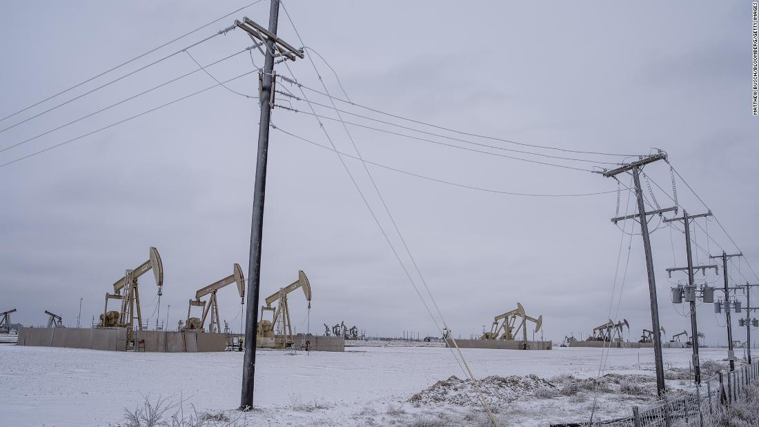 CNN - Image of Oil pumps in snow, supplying NLG to gas network