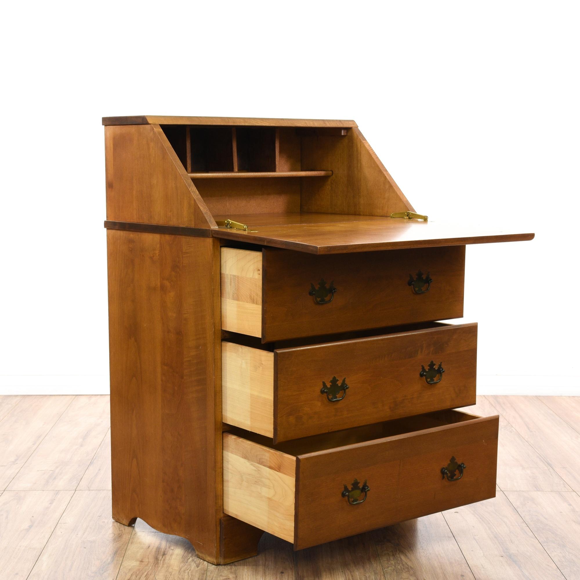 Maple Secretary Desk Chest Of Drawers Loveseat Vintage