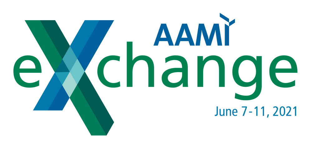 The AAMI eXchange logo with updated date of June 7-11.