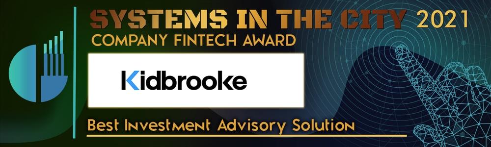 Kidbrooke wins Best Investment Advisory Solution at SITC 2021